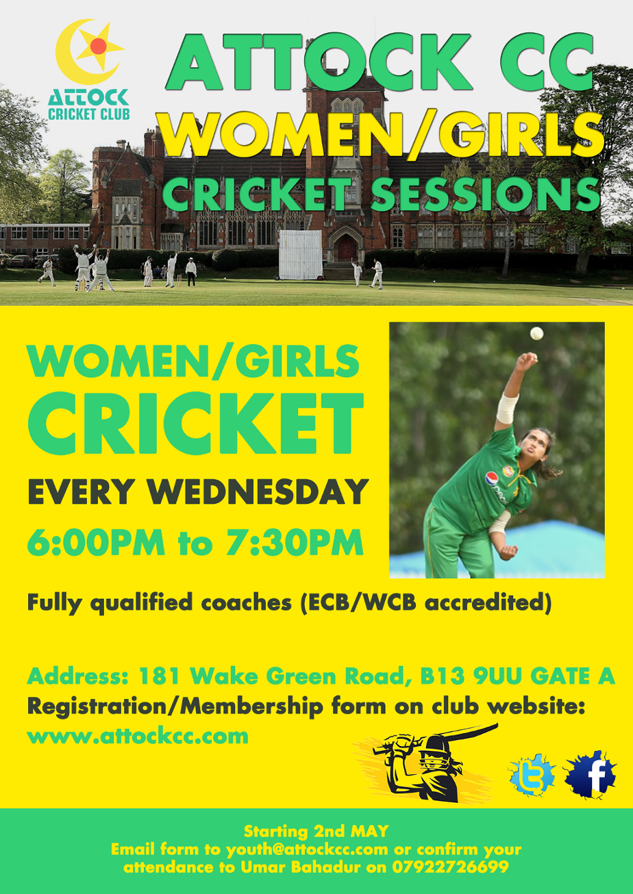 cricket TRAINING girls poster 2018a